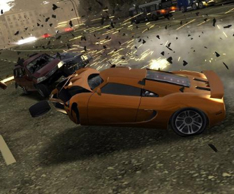 Burnout 5 crash screenshot