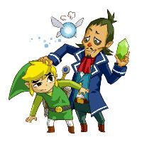 Zelda: Phantom Hourglass Link & Linebeck Artwork 1