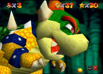 Bowser Super Mario 64 version - Screenshot