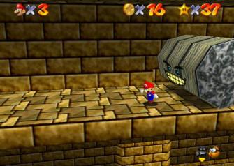 Super Mario 64 Screenshot - Pyramid Crush
