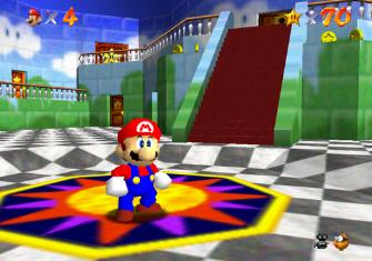 Super Mario 64 Screenshot - Wing Cap Location