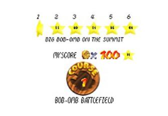 Super Mario 64 Screenshot - Star Select Screen
