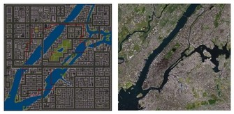 Grand Theft Auto 1 Liberty and New York City map