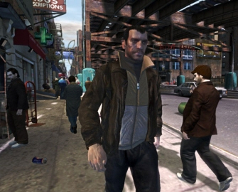 Grand Theft Auto IV Niko freeze-frame