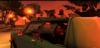 Grand Theft Auto San Andreas screenshot They Ain't Delivering Pizza