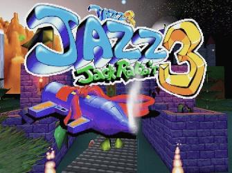 Jazz Jackrabbit 3D title screen