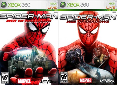 Vote for the Spider-Man: Web of Shadows boxart of your choice