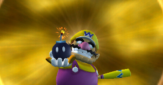 Mario Super Sluggers Wario Bomb Screenshot