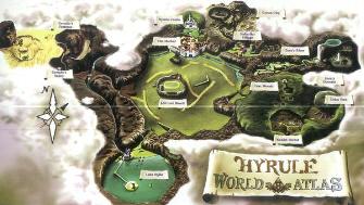 Hyrule Map World Atlus Artwork (Zelda: Ocarina of Time)