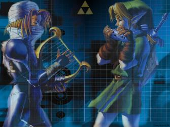 Link and Sheik Zelda Ocarina of Time Wallpaper