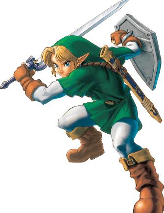 Link Fighting Stance Artwork (Zelda: Ocarina of Time)