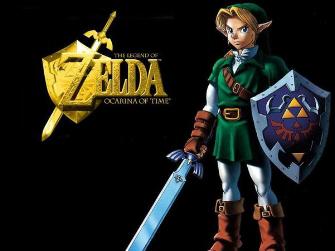 Link Gold Zelda Logo Artwork (Ocarina of Time)