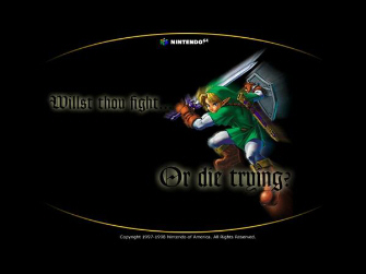 Fight or Die Trying Zelda: Ocarina of Time ad artwork