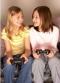 Girls Playing Video Games