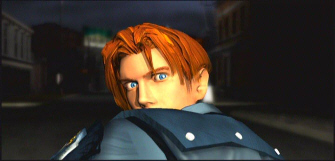 Leon screenshot from the Resident Evil 2 opening