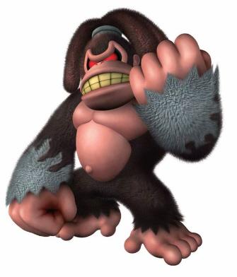 Donkey Kong Jungle Beat boss king artwork