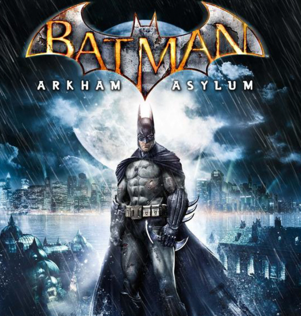 Batman: Arkham Asylum box cover artwork. For PS3, Xbox 360 and PC. Release date is August 25th, 2009