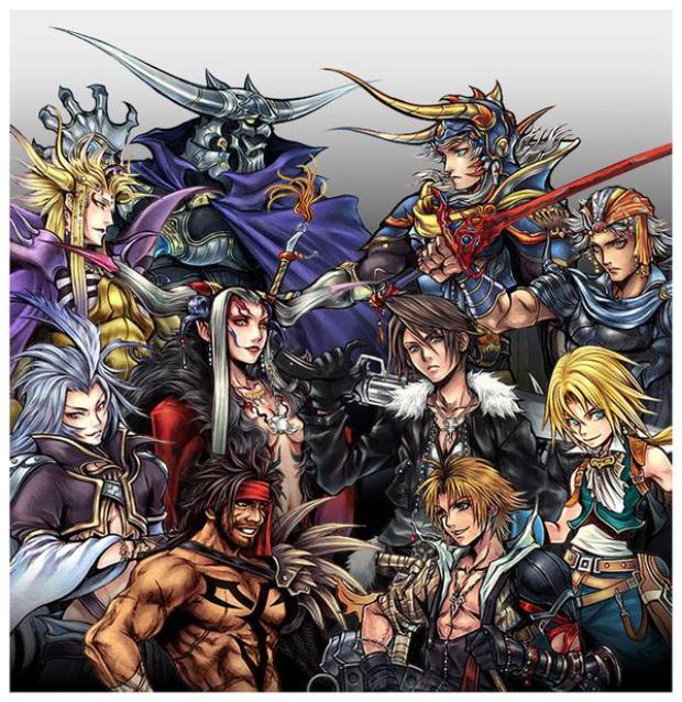Dissidia: Final Fantasy characters wallpaper artwork