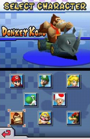 Mario Kart DS characters screenshot