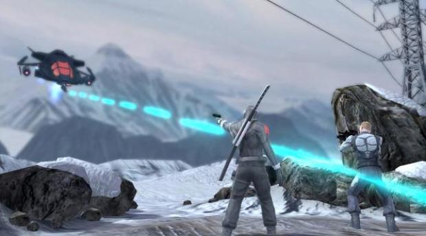 GI Joe game screenshot. Fights against vehicle bosses are fun
