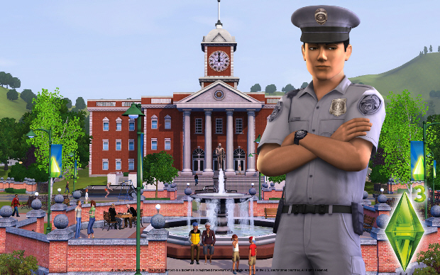 The Sims 3 Wallpaper - Cop