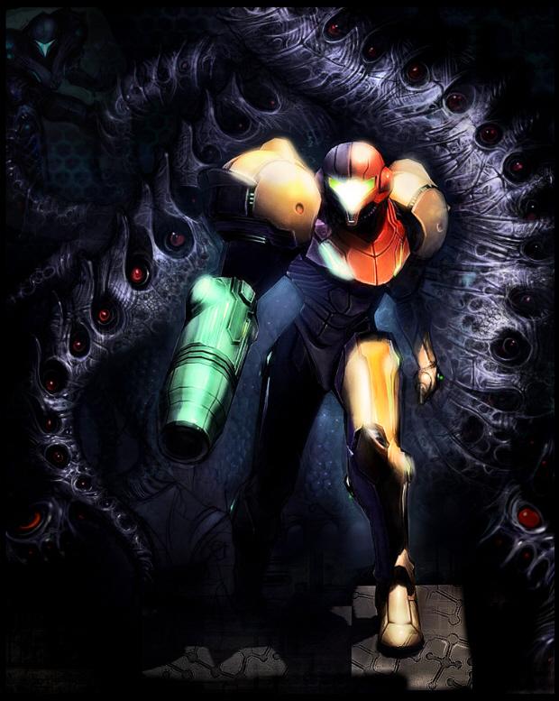 Metroid Prime 2 Dark World Artwork