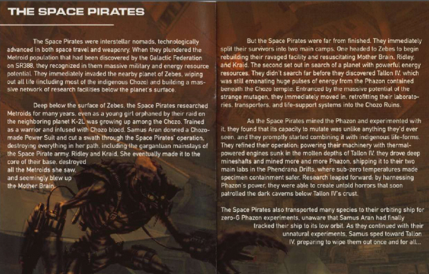 Metroid Prime Story - Space Pirates (Instruction Book Scan)