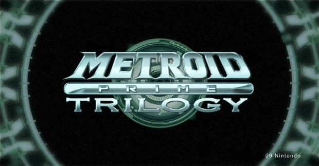 Metroid Prime Trilogy logo screenshot (Main Menu Title Screen)