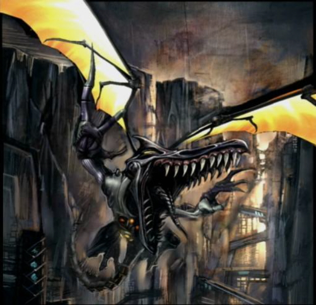 Ridley Artwork (Metroid Prime Meta Ridley Boss)