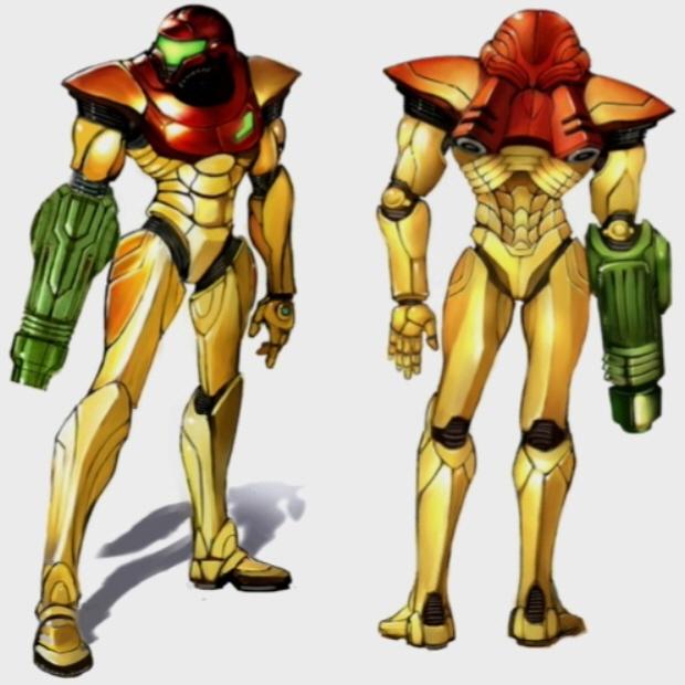Samus Suit artwork Metroid Prime (Normal Suit. No upgrades)