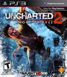 Uncharted 2 PS3 box artwork