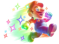 Invincible Mario Starman New Super Mario Bros Wii artwork