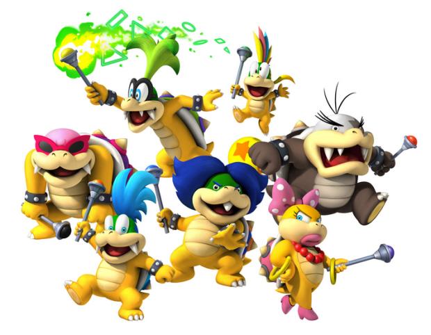 Koopalings aka Koopa Kids return in New Super Mario Bros Wii as bosses