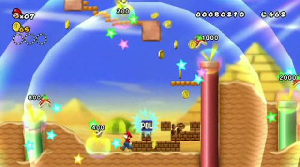 New Super Mario Bros. Wii desert screenshot