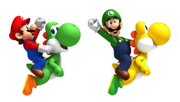 Yoshi Riding New Super Mario Bros Wii artwork