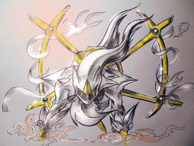 Arceus Legendary Pokemon artwork