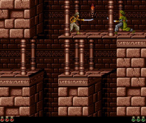 Prince of Persia SNES screenshot. Comes with Wii Forgotten Sands
