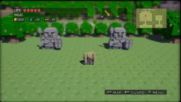 3D Dot Game Heroes walkthrough screenshot of Bosses