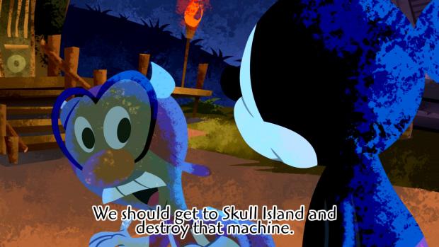 Epic Mickey cutscene screenshot. Release date is November 1, 2010