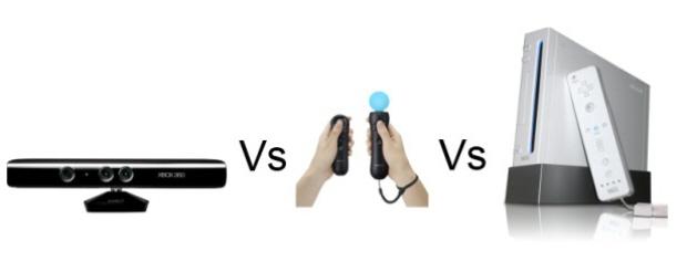 Kinect vs Move vs Wii artwork