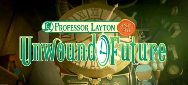 Professor Layton and the Unwound Future title artwork