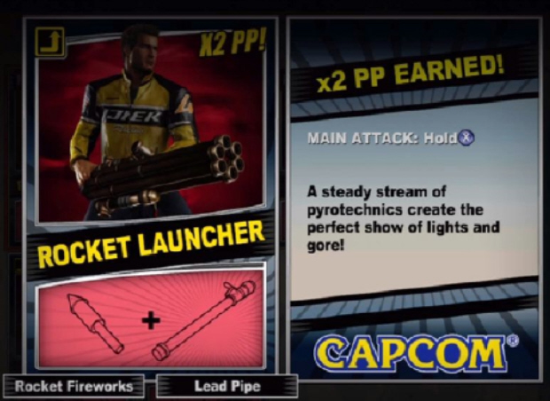 Dead Rising 2 Combo Cards locations guide screenshot of Rocket Launcher