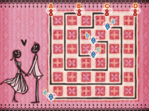 Professor Layton and the Unwound Future puzzle 101 Shy Guys and Gals solution screenshot