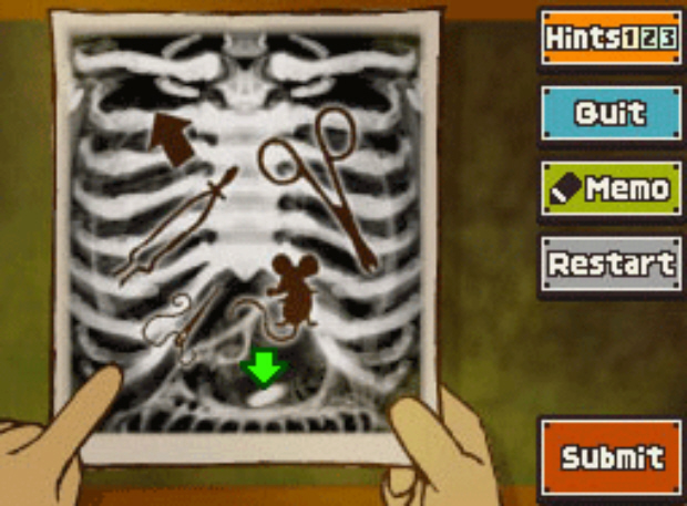 Professor Layton Unwound Future 22 Puzzle Answer X-Ray Vision Solution screenshot