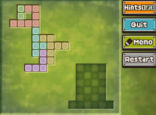 Professor Layton and the Unwound Future puzzle 75 Create the Chick solution screenshot