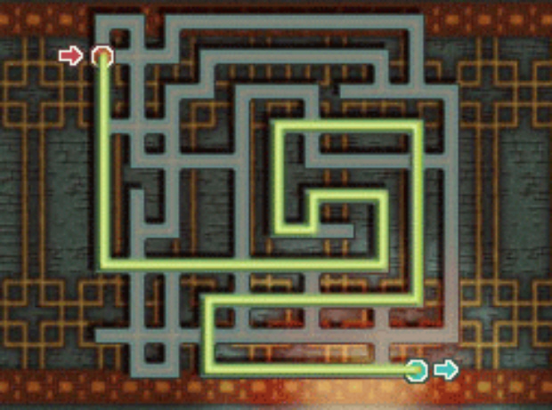 Professor Layton and the Unwound Future puzzle 97 Blind Escape solution screenshot