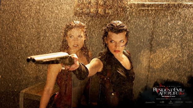 Resident Evil Afterlife Milla Jovovich wallpaper. Will return as Alice for Resident Evil 5 film