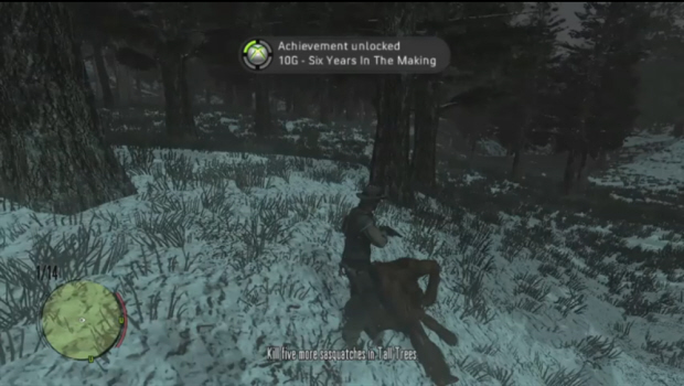 Red Dead Redemption Undead Nightmare Big Foot Achievements guide to find Sasquatch - Six Years in the Making