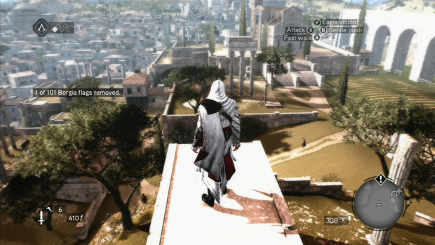 Assassins Creed Brotherhood 1 of 101 Borgia Flags removed screenshot