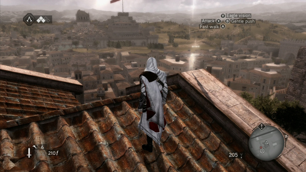 Assassins Creed Brotherhood Feather Location 1 Screenshot for the Xbox 360 and PS3